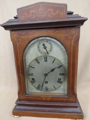 Large Antique Kienzle 8 Day Inlaid Westminster Chime Bracket Clock For Repair