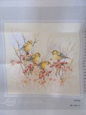 """Tapestry Canvas """" Birds on Branches """" New by Lanarte 40cm x 40cm No 41069"""