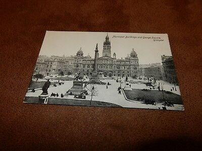 Early Glasgow postcard - George Square - Scotland