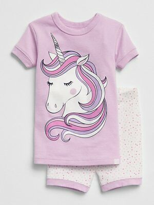 0f680e574 NWT BABY GAP GIRLS PAJAMAS SHORTS Unicorn you pick size - $12.50 ...
