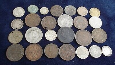 JOB LOT OF OLD COINS INCLUDING SILVER AND ROMAN CONSTANTINE  99p  OCS 4
