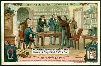 Oersted  History of Electricity Physics Science c1907 Trade Ad Card