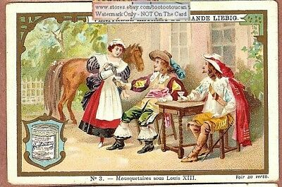Musketeer Under French King Louis XIII c1896 Trade Ad Card