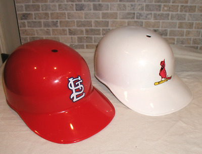 Lot of two Vintage St. Louis Cardinals Laich Plastic Baseball Helmets