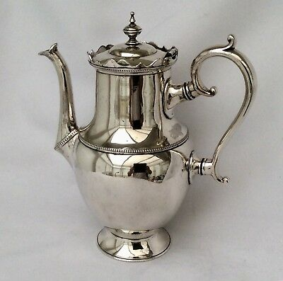 Rare Antique 19th Century DUTCH Silver Plated Coffee Pot HK & Co C1860