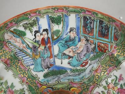 An Unusual Canton Porcelain Plate With Famille-Verte Panels Of Figures 19Thc