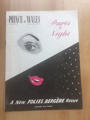 PRINCE OF WALES THEATRE PROGRAMME 1950's PARIS BY NIGHT BENNY HILL TOMMY COOPER