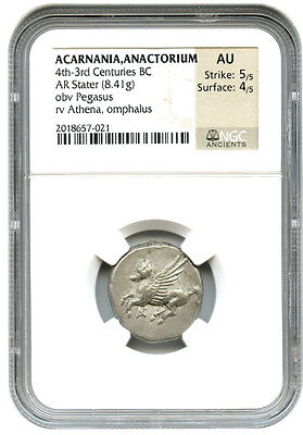 4th-3rd Centuries BC Anactorium AR Stater NGC AU (Ancient Greek)