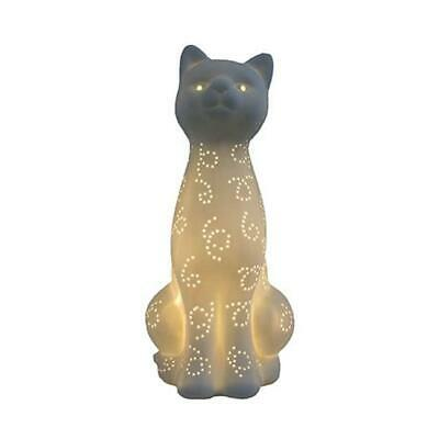 All The Rages  Porcelain Kitty Cat Shaped Table Lamp