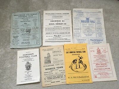 Job lot of old NON LEAGUE programmes 1960s 1950s?