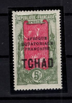 P86026/ TCHAD / CHAD / VARIETY / SG # 56a NEUF * / MINT MH / CERTIFICATE 615 €