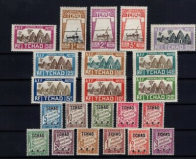 P86025/ Tchad / Chad / Postage Due / Sg # D58 / D79 Mint Mh / Complete 125 €