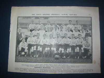 Daily Graphic Football Album 1908/09 Images Of Sheffield Wednesday & Preston Ne