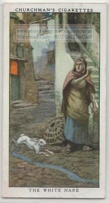 Legend Of The  White Hare Cornwall England 1930s Ad Trade Card