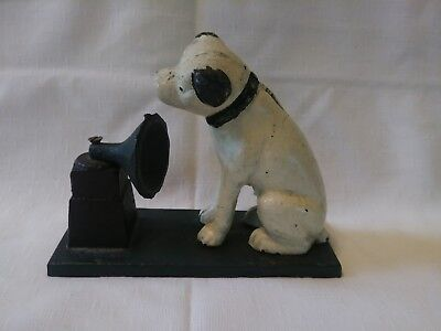 Vintage RCA Victor Nipper Mascot Dog Cast Iron Money Bank SEE PICS