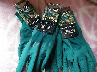 Briers Men All Rounder Thorn Resistant Garden Gloves,L. size 9 Job Lot x 3 Pairs