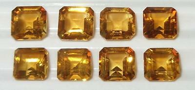 7.84ct Lot 8pcs Beautiful Brazil Citrine Octagon Princess Cut 6mm SPECIAL