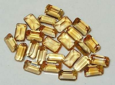 7.52ct Lot 25pcs Brazil Gold Citrine Emerald Cut 5x3mm SPECIAL