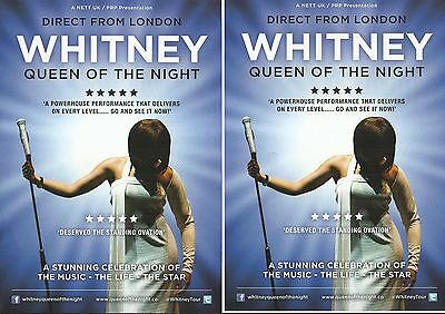 Whitney - Queen of the night - Tribute -  UK 2017 Tour FLYERS x 2