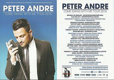 Peter Andre - Come swing with me - 2016 Tour FLYERS x 2