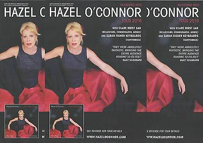An Evening with Hazel O' Connor -  2016 Tour FLYERS x 3