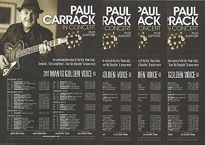 Paul Carrack - The man with the golden voice - 2013/2014 UK Tour FLYERS x 4