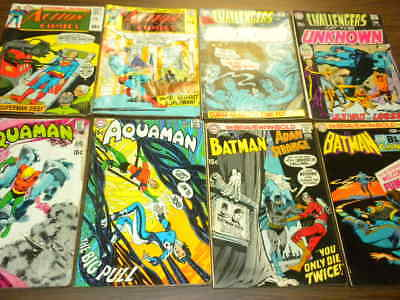 10 AQUAMAN BRAVE/BOLD/BATMAN ACTION/SUPERMAN CHALLENGERS MYSTERY more 1970 lot