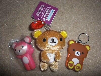 san x rilakkuma bear mini plush game sqwishy cute lot