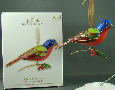New Beauty of Birds Painted Bunting 8 in Series Hallmark Christmas Ornament 2012