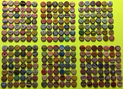 259 different unused Cork Lined soda bottle caps