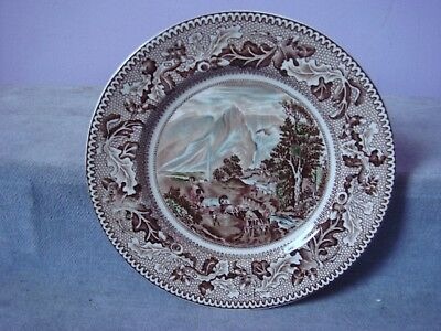 JOHNSON BROS Historic America COVERED WAGONS and the Rocky Mountains TEA PLATE