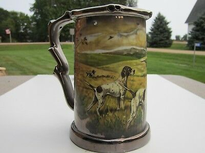 Quality Schedel Bavaria Pointer Dogs W/ Pheasants & Nude Lady Puzzle Beer Mug