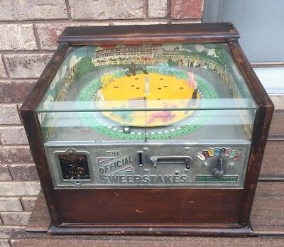 Antique Rockola Sweepstakes Horse Race Machine