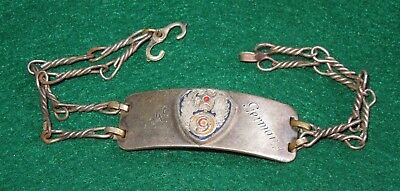 WWII US 9th Army Air Force AAF 1946 Bracelet Theater Made Jewelry