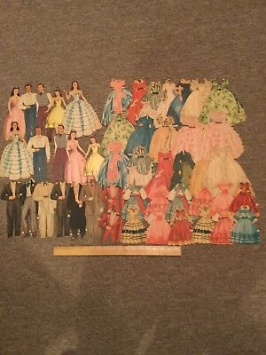 Vintage Lot Of 52 Assorted Gone With The Wind Paper Dolls With Accessories