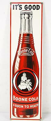 Decorative Boone Cola Metal Advertising Sign A Boon To Health