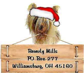 Chinese Crested Christmas return address labels DIE CUT TO SHAPE