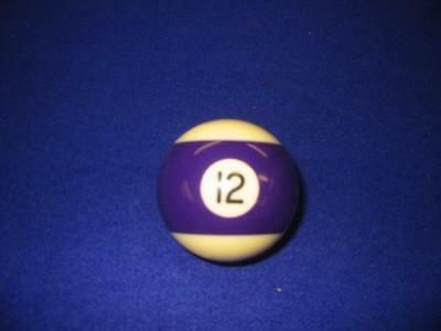 "12 (Twelve) Ball.  2 1/4"" Standard Pool Ball For Coin-Op Or Home Style .  New"