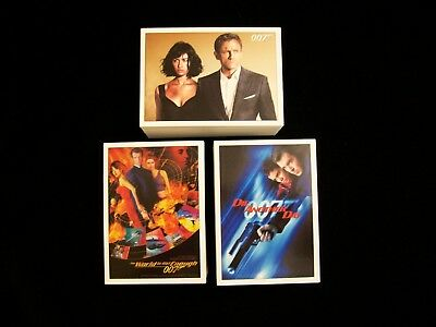 James Bond Trading Card Base Sets - Lot of 12 Complete Sets from 2015,16 & 17