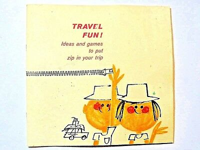 1961 Bell System Travel Fun Booklet - safety tips, games, travel tips