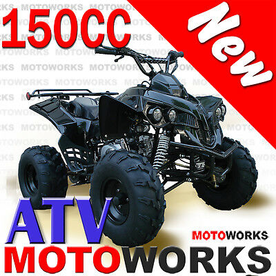 MOTOWORKS RAIDER 150CC ATV QUAD Dirt Bike Buggy Go Kart 4 Wheeler black