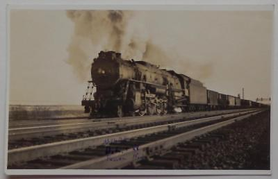 RPPC Postcard Deleware Lackawana Western Railroad Train Engine #1629 Passaic NJ