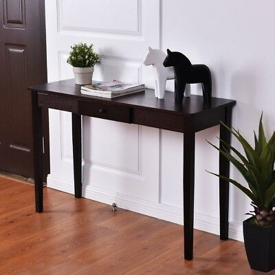 Wood Console Table Entry Hallway Entryway Side Sofa Accent Table with Drawer US