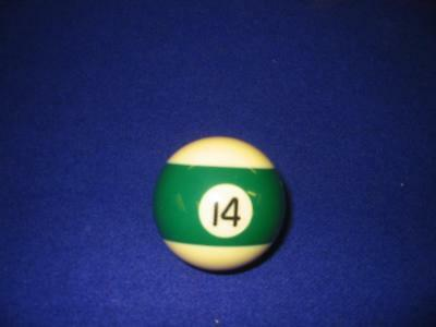 "14 (Fourteen) Ball.  2 1/4"" Standard Pool Ball For Coin-Op Or Home Style .  New"