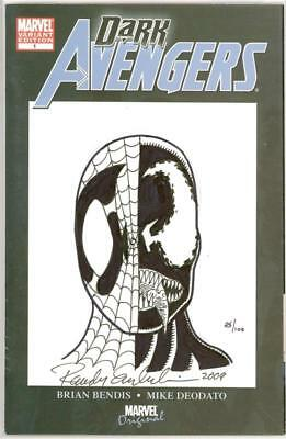 Dark Avengers #1 Df Dynamic Forces Signed Emberlin Marvel Venom Sketch Movie