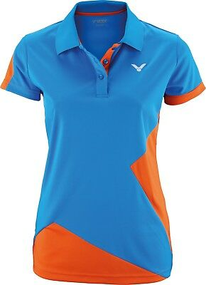 VICTOR Polo Function Female orange 6118 Sport Shirt Damen Badminton Squash Gr.36