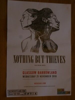 Nothing But Thieves - Glasgow nov.2018 live music show concert gig poster