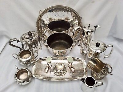Quality Joblot Of Antique/Vintage Mainly Sheffield Silver Plated Items 5.6 Kg