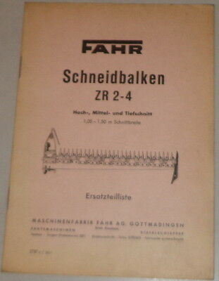 Parts Catalog Drive Schneidbalken Zr 2-4 High Medium And Jigsaw Blades Downcut Business, Office & Industrial Tractor Manuals & Publications