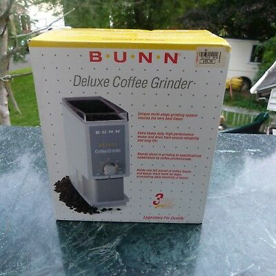BUNN Deluxe Coffee Grinder Model BCG New/old Stock in Package